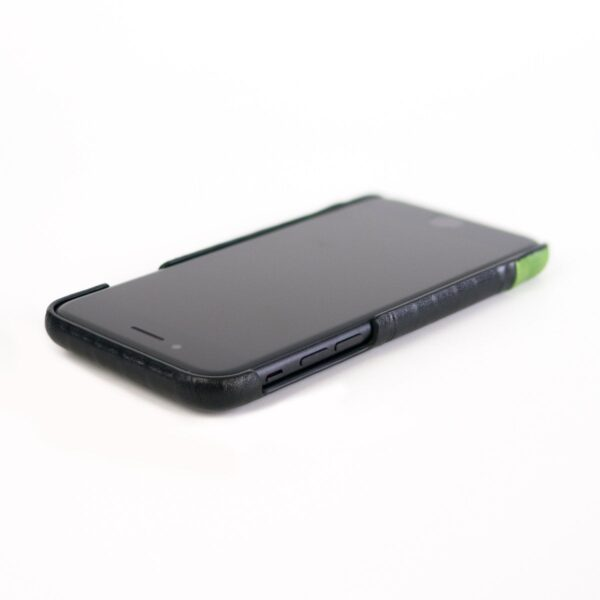 Alto Metro 皮革手機殼 - 渡鴉黑/萊姆綠(iPhone 7 / 8)