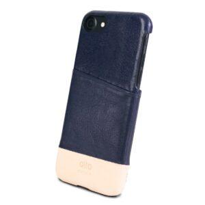 Alto Metro 皮革手機殼 - 海軍藍/本色(iPhone SE)