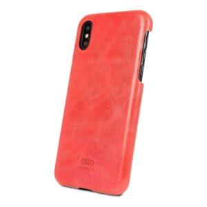 Alto Original 皮革手機殼 - 珊瑚紅(iPhone X / Xs)