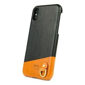 Alto Anello 皮革手機殼 - 渡鴉黑(iPhone X / Xs)