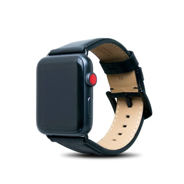 Apple Watch Leather Band – Raven Black