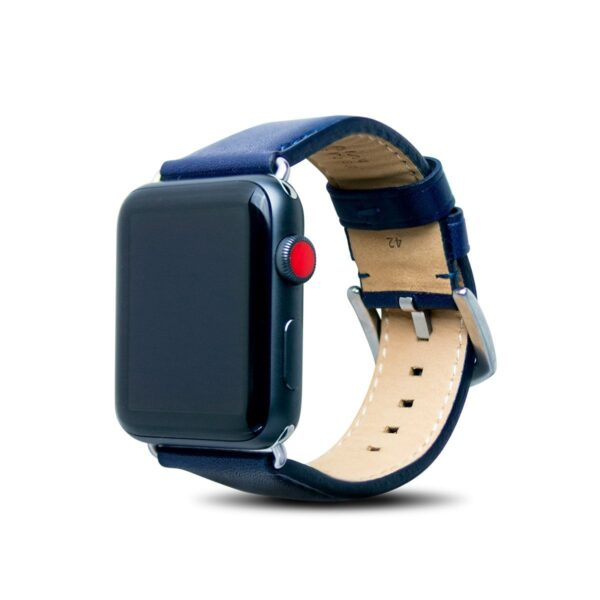 Apple Watch Leather Band – Navy Blue