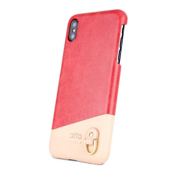 Alto Anello 皮革手機殼 - 珊瑚紅(iPhone Xs Max)