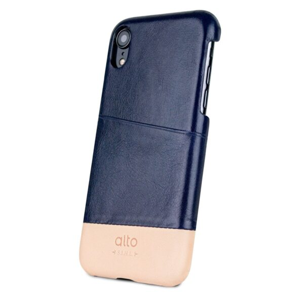 Alto Metro 皮革手機殼 - 海軍藍/本色(iPhone XR)
