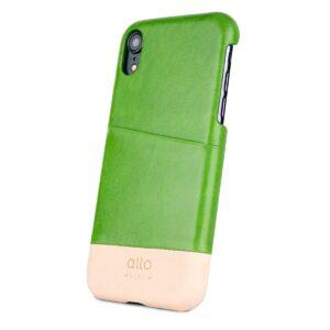 Alto Metro 皮革手機殼 - 萊姆綠(iPhone XR)