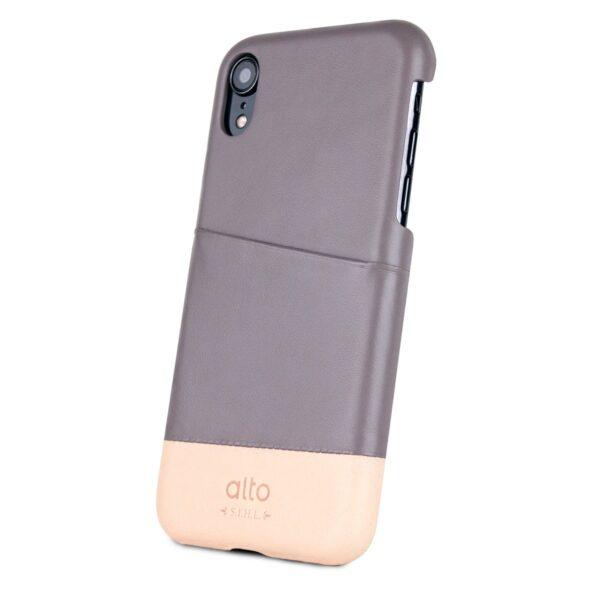 Alto Metro 皮革手機殼 - 礫石灰/本色(iPhone XR)