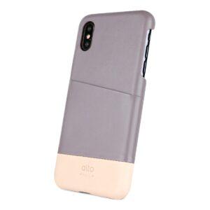 Alto Metro 皮革手機殼 - 礫石灰/本色(iPhone X / Xs)