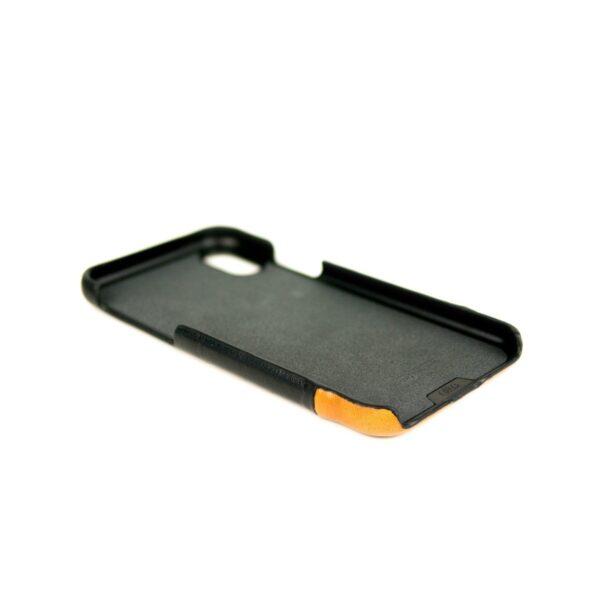 Alto Metro 皮革手機殼 - 渡鴉黑/焦糖棕(iPhone Xs Max)
