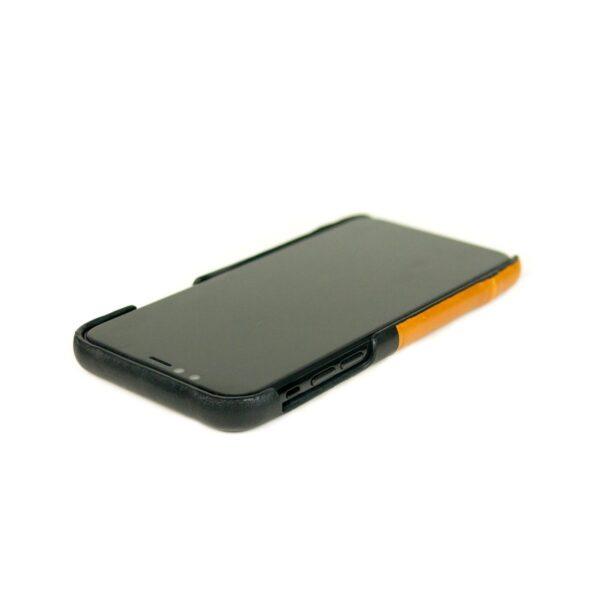 Alto Metro 皮革手機殼 - 焦糖棕/渡鴉黑(iPhone Xs Max)