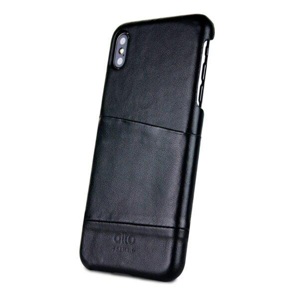 Alto Metro 皮革手機殼 - 渡鴉黑(iPhone Xs Max)
