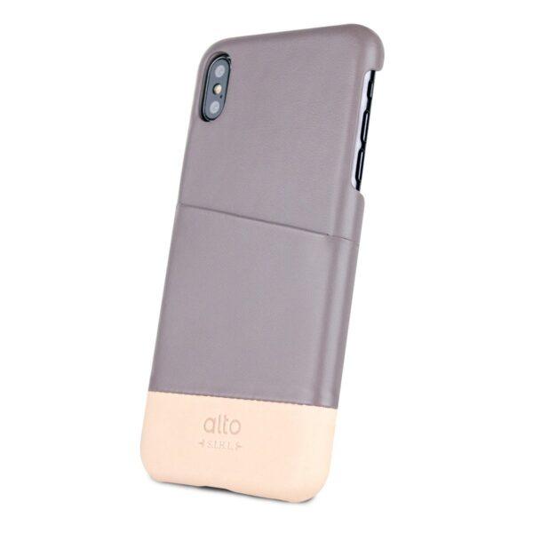 Alto Metro 皮革手機殼 - 礫石灰/本色(iPhone Xs Max)