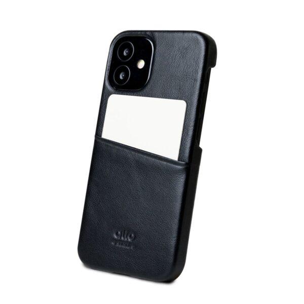 Alto Metro 皮革手機殼 - 渡鴉黑(iPhone 12 mini)