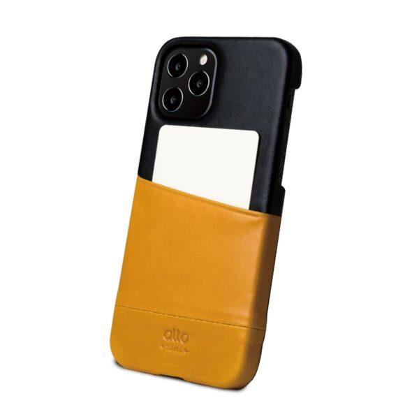 Alto Metro 皮革手機殼 - 焦糖棕/渡鴉黑(iPhone 12 / Pro)