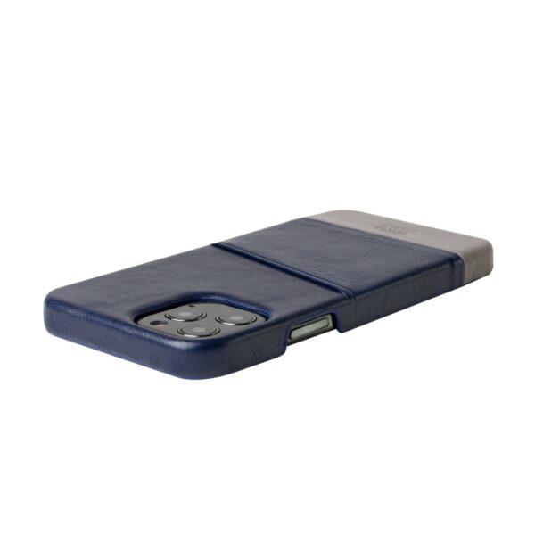 Alto Metro 皮革手機殼 - 海軍藍/礫石灰(iPhone 12 / Pro)