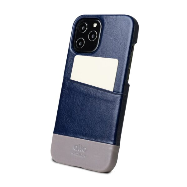 Alto Metro 皮革手機殼 - 海軍藍/礫石灰(iPhone 12 Pro Max)