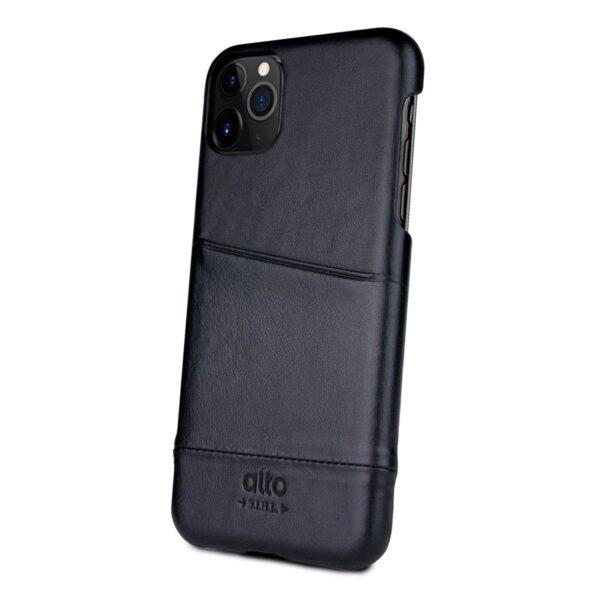 Alto Metro 皮革手機殼 - 渡鴉黑(iPhone 11 Pro)