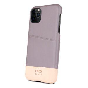 Alto Metro 皮革手機殼 - 礫石灰/本色(iPhone 11 Pro)