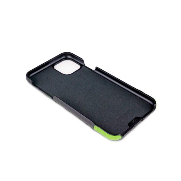 Alto Metro 皮革手機殼 - 渡鴉黑/萊姆綠(iPhone 11 Pro Max)