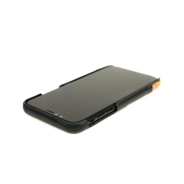 Alto Metro 皮革手機殼 - 渡鴉黑/焦糖棕(iPhone 11 Pro Max)