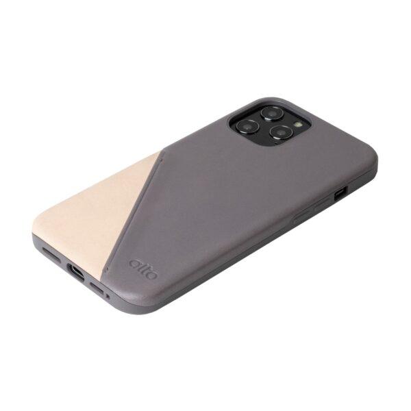 Alto Metro 360 皮革手機殼 - 礫石灰(iPhone 12 Pro Max)