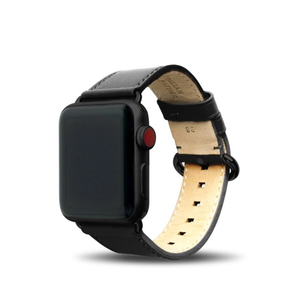 Apple Watch Leather Band 38/40/41mm - Raven Black