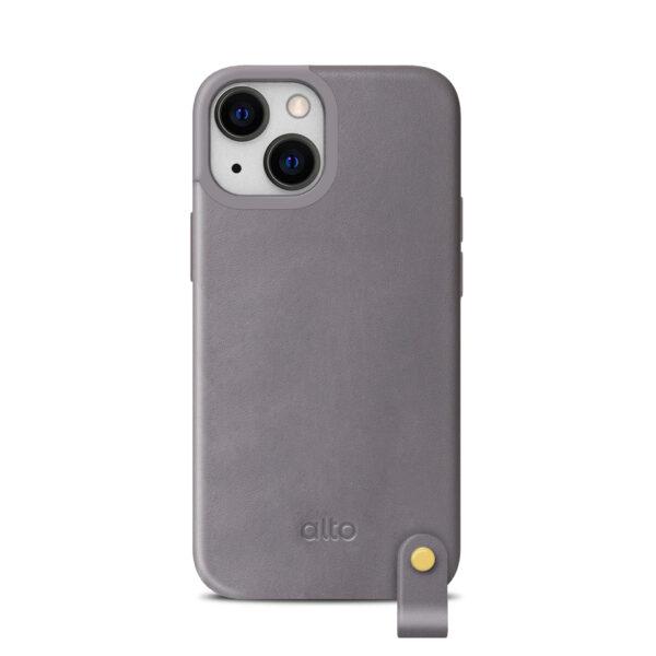 Alto iPhone 13 mini Leather Lanyard Case - Gray