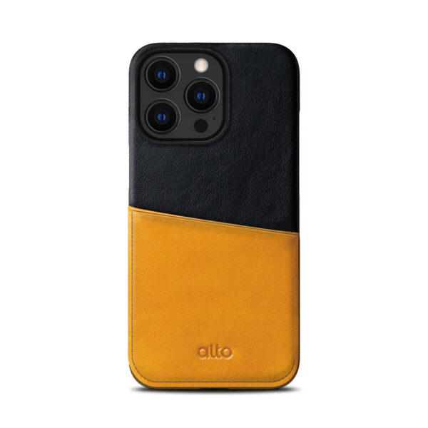 iPhone 13 Pro Max Leather Wallet Case - Brown / Black