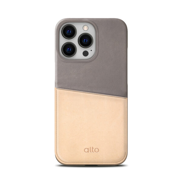 iPhone 13 / 13 Pro Max Leather Wallet Case - Gray