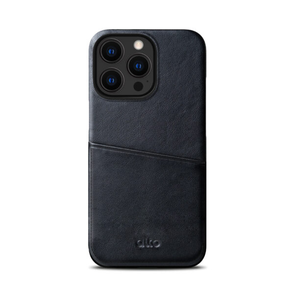 iPhone 13 / 13 Pro Max Leather Wallet Case - Black