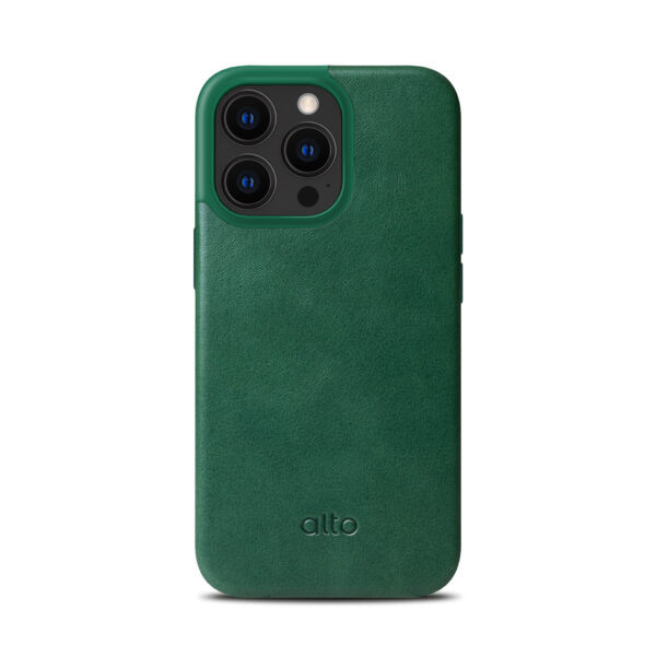 iPhone 13 / 13 Pro Max Protective Leather Case - Green