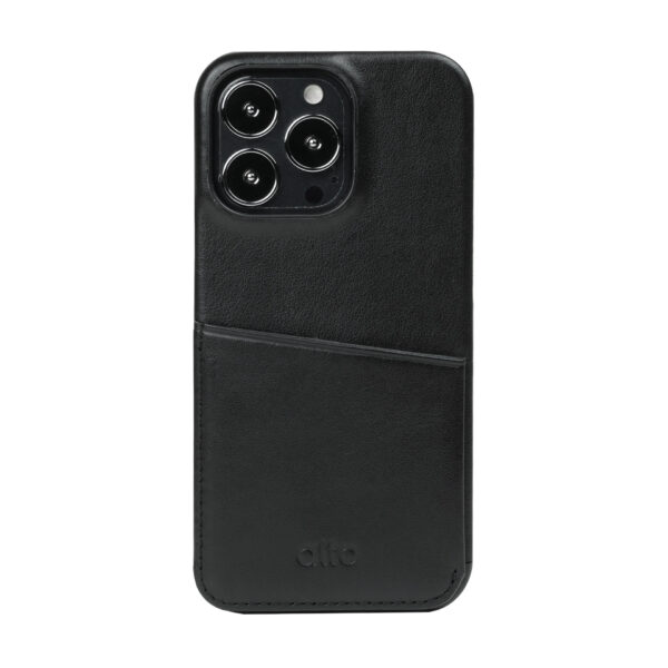 iPhone 13 Pro Max Leather Wallet Case - Black