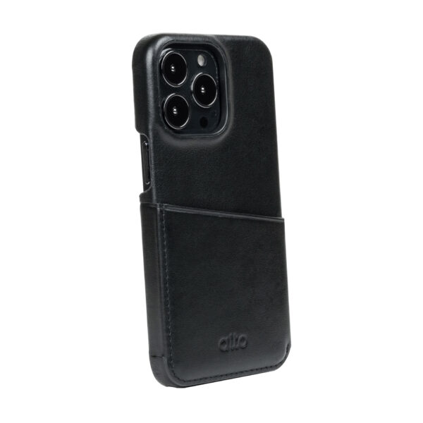 iPhone 13 Pro / Pro Max Leather Wallet Case - Black