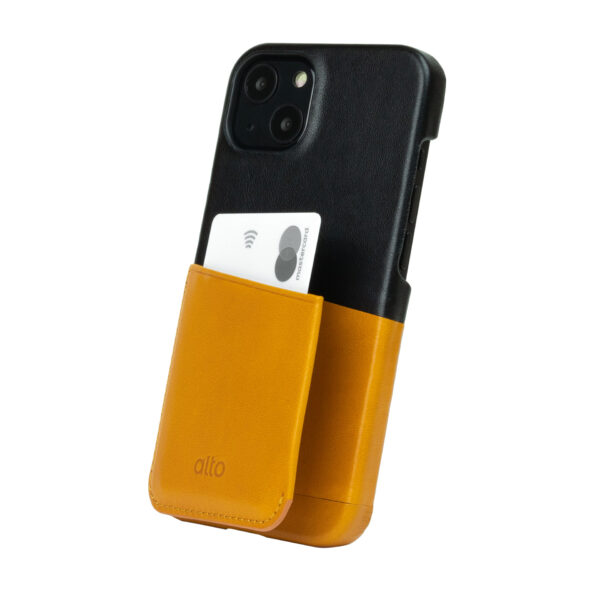 iPhone 13 Leather Wallet Case - Brown