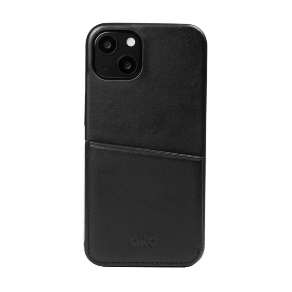 iPhone 13 Leather Wallet Case - Black