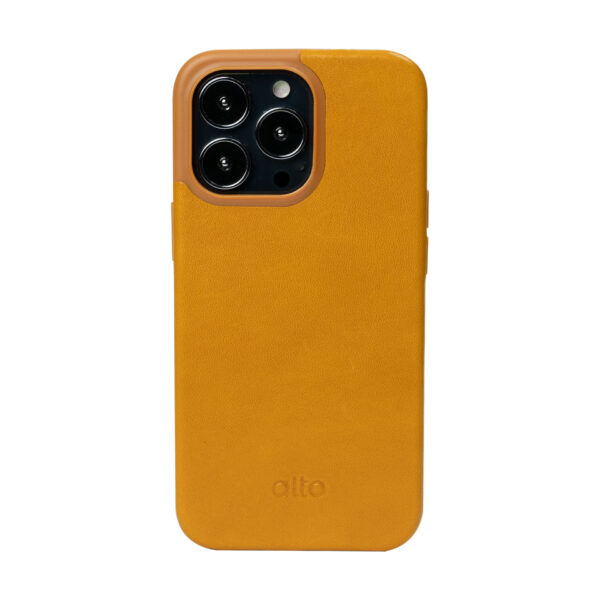 iPhone 13 Pro Protective Leather Case - Brown