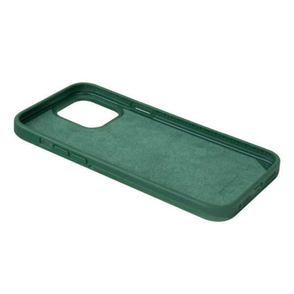 iPhone 13 Pro Max Protective Leather Case - Forest Green