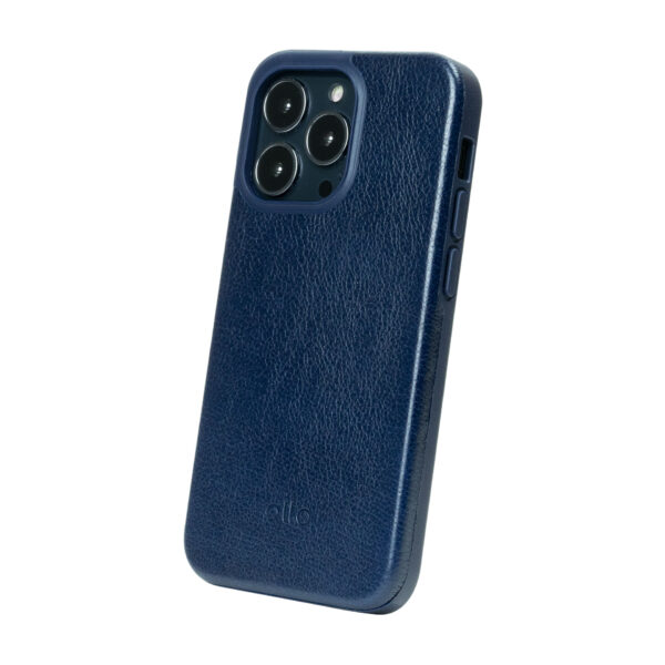 iPhone 13 Pro Max Protective Leather Case - Navy Blue