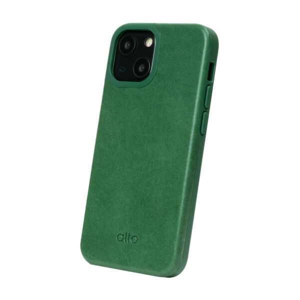 iPhone 13 Protective Leather Case - Green