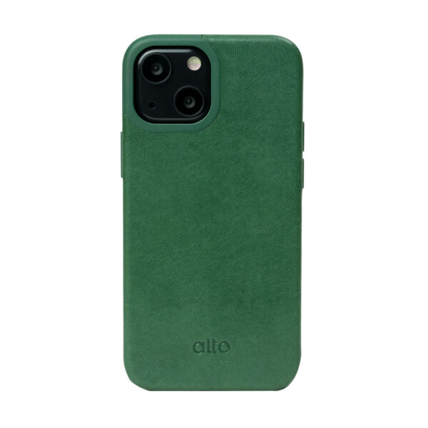 iPhone 13 mini Protective Leather Case - Green