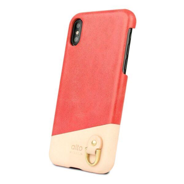 Alto Anello 皮革手機殼 - 珊瑚紅(iPhone X / Xs)