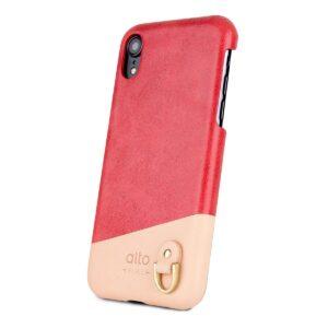 Alto Anello 皮革手機殼 - 珊瑚紅(iPhone XR)