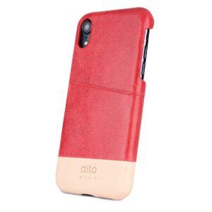 Alto Metro 皮革手機殼 - 珊瑚紅(iPhone XR)