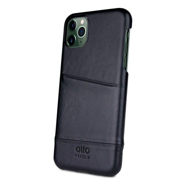 Alto Metro 皮革手機殼 - 渡鴉黑(iPhone 11 Pro Max)