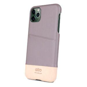 Alto Metro 皮革手機殼 - 礫石灰/本色(iPhone 11 Pro Max)