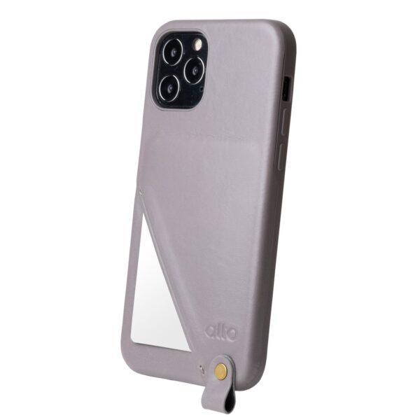 Alto Anello 360 插卡式皮革手機殼 - 礫石灰(iPhone 12 / Pro)