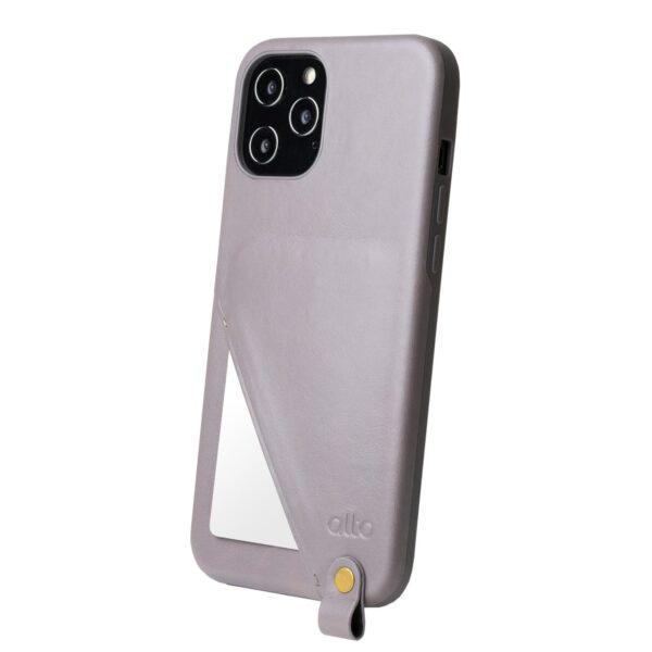 Alto Anello 360 插卡式皮革手機殼 - 礫石灰(iPhone 12 Pro Max)
