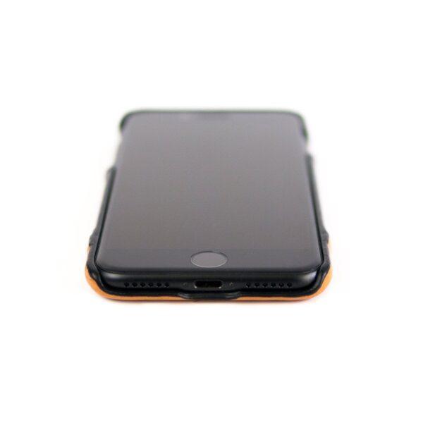 Alto Metro 皮革手機殼 - 渡鴉黑/焦糖棕(iPhone 7 / 8)