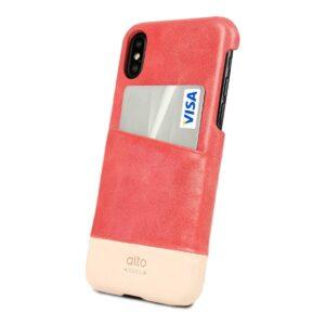 Alto Metro 皮革手機殼 - 珊瑚紅(iPhone X / Xs)