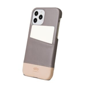 Alto Metro 皮革手機殼 - 礫石灰/本色(iPhone 12 / Pro)