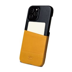 Alto Metro 皮革手機殼 - 焦糖棕/渡鴉黑(iPhone 12 Pro Max)